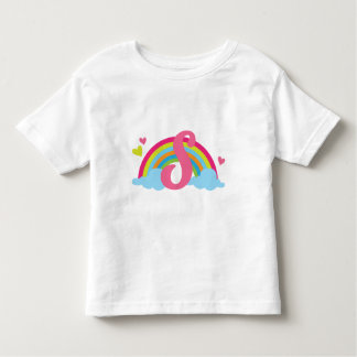 Monogram Letter S Alphabet Rainbow Toddler T-Shirt