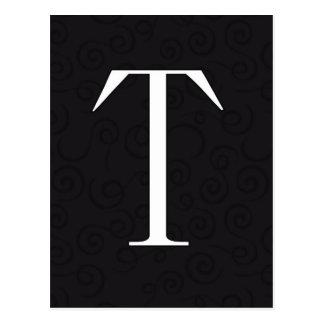 Monogram Letter T Postcard