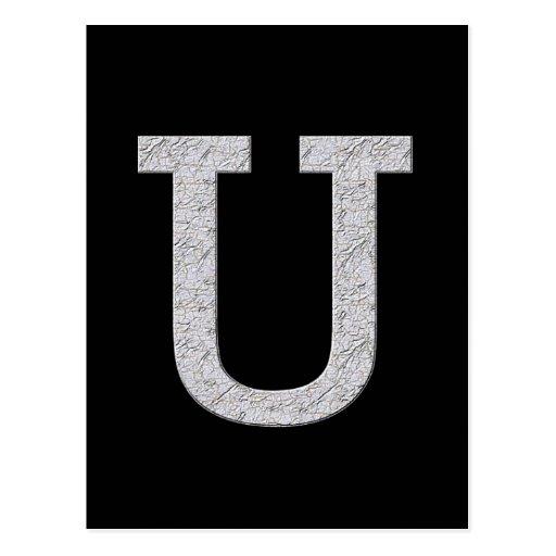 Monogram Letter U Postcards