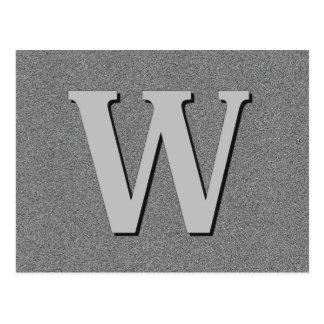 Monogram Letter W Postcard