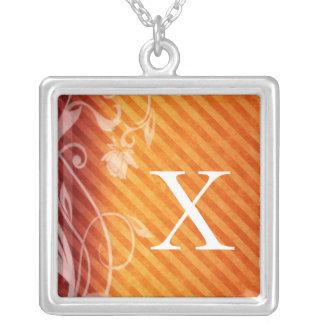 Monogram Letter X Pendant Necklace