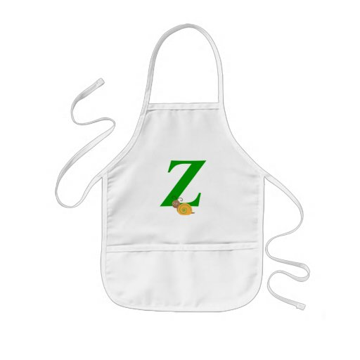 Monogram letter Z brian the snail kids apron