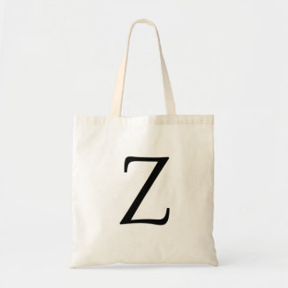 "Monogram Letter ""Z"" Budget Tote-Canvas Tote Bag"