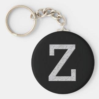 Monogram Letter Z Key Ring