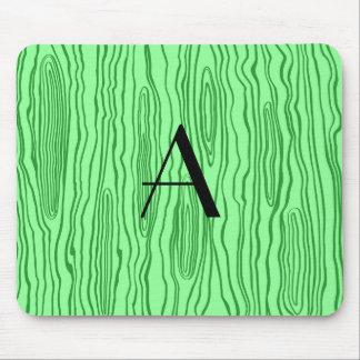 Monogram light green faux bois mouse pad