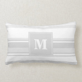 Monogram light grey stripes lumbar cushion