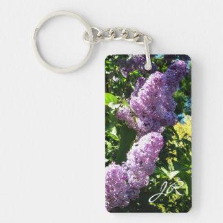 Monogram lilac Key chain