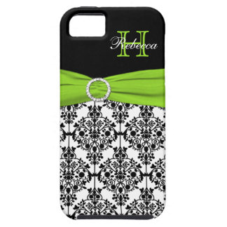 Monogram Lime Black White Damask iPhone 5 Vibe iPhone 5 Cases