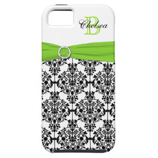 Monogram Lime Black White Damask iPhone 5 Vibe iPhone 5 Cover