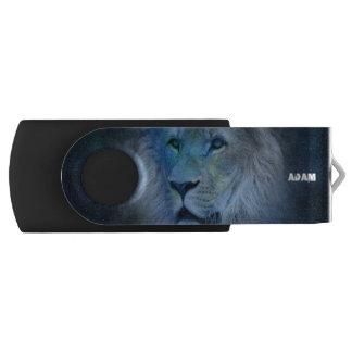 Monogram Lion King USB Swivel Flash Drive