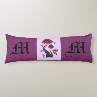 Monogram - M Body Pillow with Tree and Butterflies