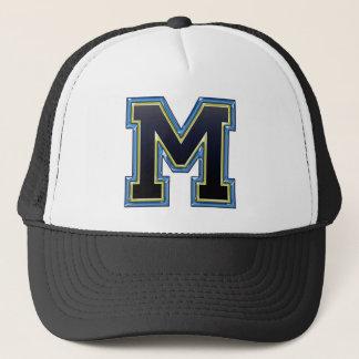 Monogram M Initial Trucker Hat