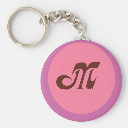 Monogram M Keychain