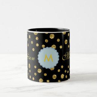 Monogram-M-Madison Black Two-Tone Mug