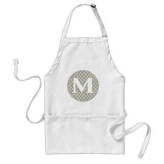 Monogram M Standard Apron