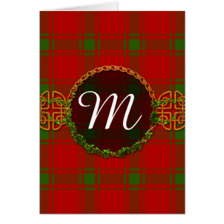 Monogram MacDonald Of Sleat Tartan Card