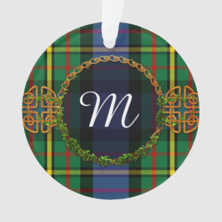 Monogram MacLaren Tartan Ornament