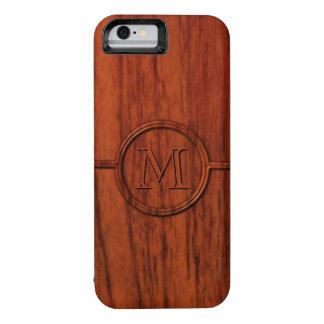 Monogram Mahogany Wood Print