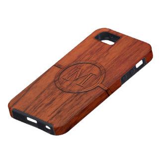 Monogram Mahogany Wood Print iPhone 5 Case
