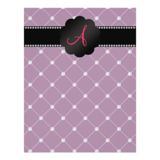 Monogram Maroon diamonds 21.5 Cm X 28 Cm Flyer