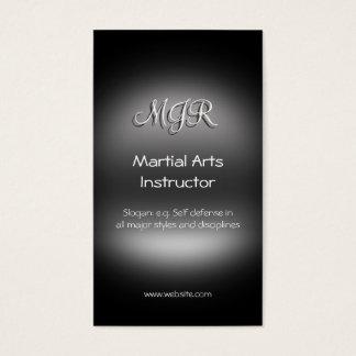 Monogram, Martial Arts Instructor, metal-look