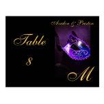 Monogram Masquerade Mask Purple Table Placecard Post Card