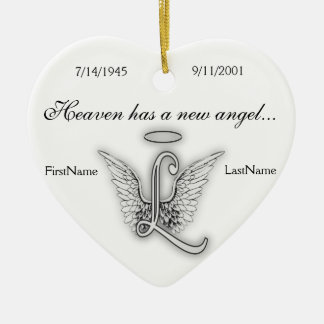 Monogram Memorial Tribute Ornament L