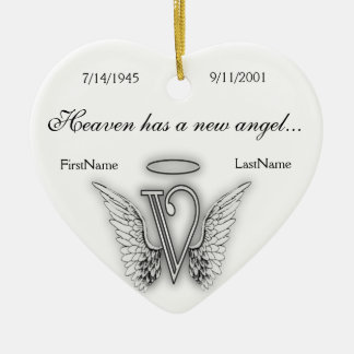 Monogram Memorial Tribute Ornament V
