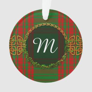 Monogram Menzies Tartan Ornament