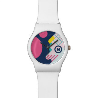 Monogram. Modern 80s Geometric Pattern. Watch