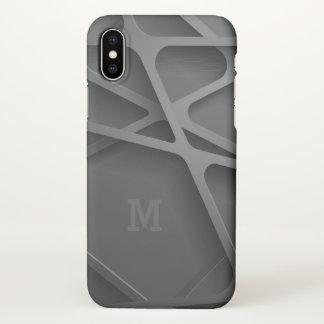 Monogram. Modern Abstract Art. iPhone X Case