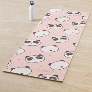 Monogram Modern Cute Panda Pattern Yoga Mat
