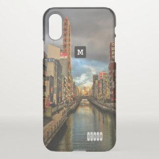 Monogram. Modern Day Osaka Japan iPhone X Case