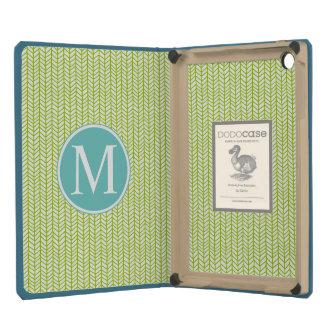 Monogram Modern Herringbone iPad Mini Retina Cover
