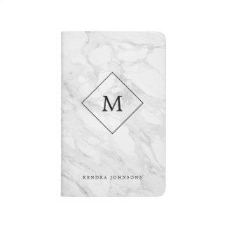 Monogram modern marble journals