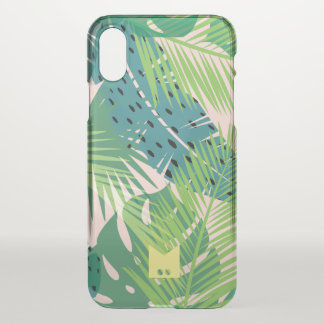 Monogram. Modern Tropical Palm Pattern iPhone X Case