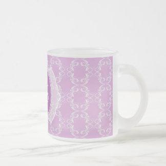 Monogram Moroccan art deco Frosted Glass Mug