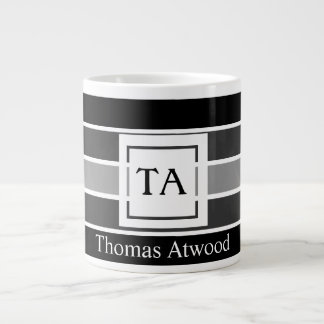 Monogram Mug for the Professional Office in Black