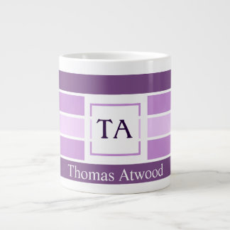 Monogram Mug for the Professional Office in Purple