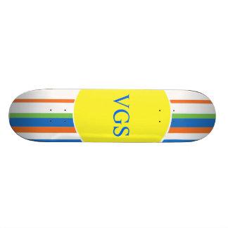 Monogram Multicolored Stripes Custom Skateboard