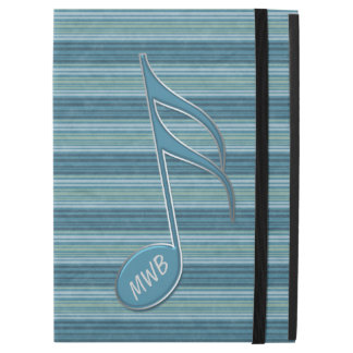 Monogram Music Note and Stripes iPad Pro Case