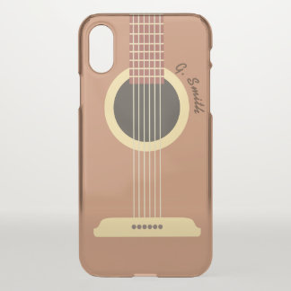 Monogram. Musical Instrument. Funny Guitar. iPhone X Case