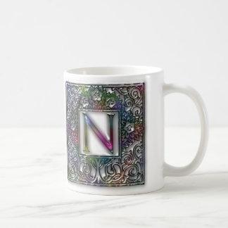 Monogram N Basic White Mug
