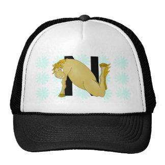 Monogram N Cartoon Pony Personalised Trucker Hat