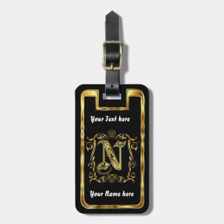Monogram N One of a kind View notes please Luggage Tag