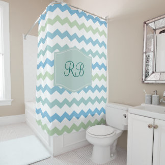 Monogram Name Initials Shower Curtain
