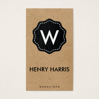 Monogram / Natural Business Card