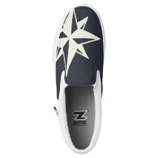 Monogram. Nautical. Star. Printed Shoes
