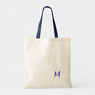 Monogram Navy White Canvas Bag