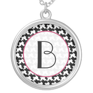 Monogram Necklace - Houndstooth